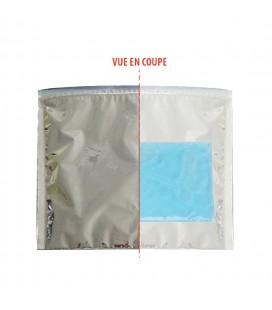 100 pochettes isothermes avec zip 20 x 22 cm avec gel eutectique