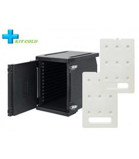 Kit froid - 1 Conteneur Frontal 93L + 2 plaques froides 4KG
