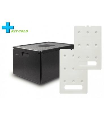 Kit froid - 1 Conteneur 80L + 2 plaques froides 4KG
