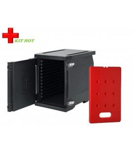 Kit chaud - 1 Conteneur Frontal 93L + 1 plaque chaude 4KG