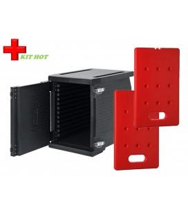 Kit chaud - 1 Conteneur Frontal 93L + 2 plaques chaudes 4KG